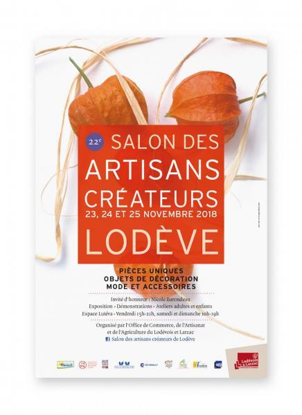 Affiche salon artisans createurs lodeve 2018