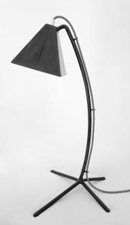 Lampe à poser R1 patinée brun/noir