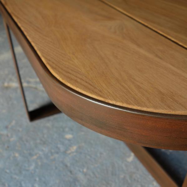 Table basse acier bois