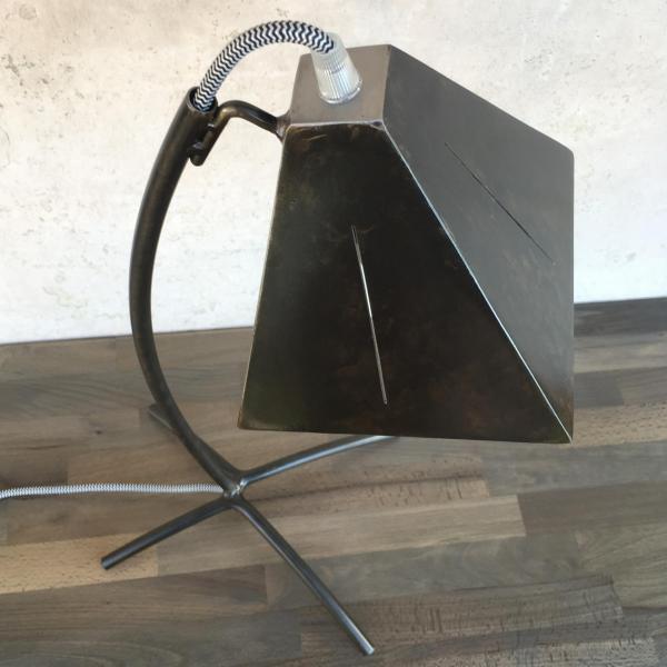 Lampe à poser T1 patinée brun/noir