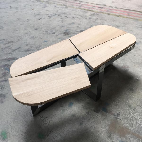 Table basse plateau découpé